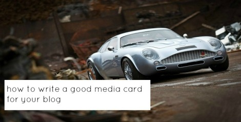 how to write a good media card for your blog